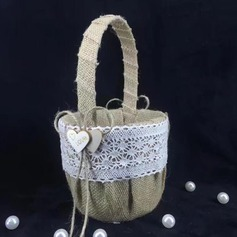 Pure Flower Basket in Linen
