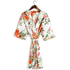 Personalized Charmeuse Bride Bridesmaid Mom Junior Bridesmaid Floral Robes Embroidered Robes (248220066)