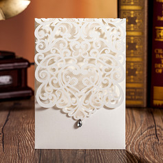 Personalized Side Fold Invitation Cards With Beads