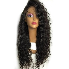 4A Non remy Curly Human Hair Lace Front Wigs