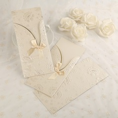 Classic Style Side Fold Invitation Cards With Bows/Ribbons  (114091462)