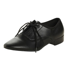 Men's Real Leather Heels Ballroom With Lace-up Dance Shoes (053060071)