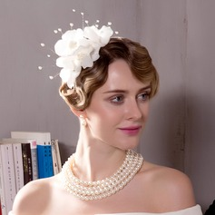 Ladies' Elegant/Simple/Pretty Polyester With Imitation Pearls/Flower Fascinators/Tea Party Hats