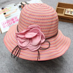 Ladies' Simple Fabric With Flower Bowler/Cloche Hat