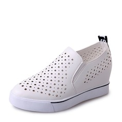 Women's suede With Hollow-out Sneakers