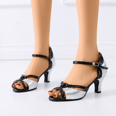 Women's Leatherette Sandals Latin Modern Ballroom With Buckle Dance Shoes