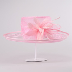 Ladies' Beautiful/Elegant Organza With Feather Beach/Sun Hats/Tea Party Hats