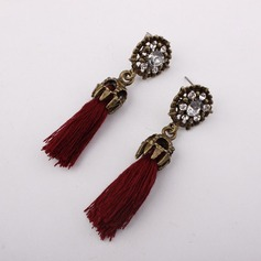 Alloy Rhinestones With Rhinestone Fashion Earrings (Set of 2)