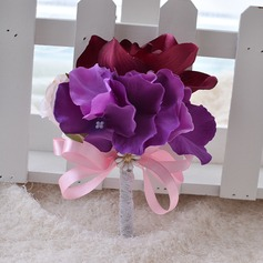 Lovely Ribbon/Silk linen Boutonniere