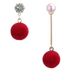 Beautiful Alloy Imitation Pearls With Imitation Pearl Women's Fashion Earrings (Set of 2)