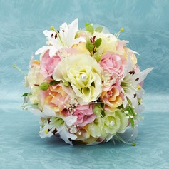 Comely Round Satin Bridal Bouquets