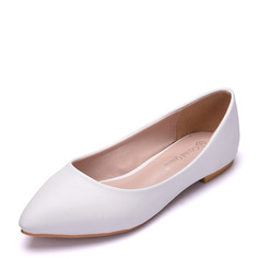 Women's Leatherette Flat Heel Closed Toe Flats With Others