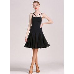 Women's Dancewear Lace Rayon Latin Dance Ballroom Dresses (115121124)