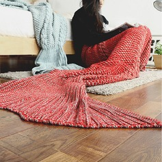 Warmth Crochet Knitted Mermaid Tail Blanket,195*95 (Sold in a single)