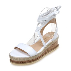 Women's Leatherette Wedge Heel Sandals Wedges shoes (116207629)