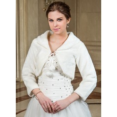 3/4-Length Sleeve Faux Fur Wedding Wrap