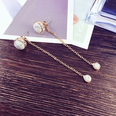 Beautiful Gold Plated Copper With Imitation Pearl Gold Plated Ladies' Fashion Earrings