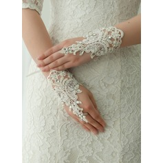 Lace Wrist Length Bridal Gloves (014125687)