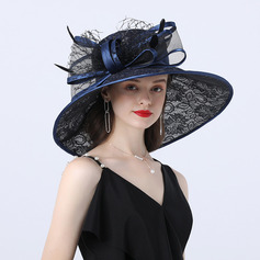 Ladies' Hottest/Romantic Polyester With Bowknot Beach/Sun Hats/Tea Party Hats (196233908)