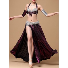Women's Dancewear Cotton Polyester Chiffon Belly Dance Outfits (115086473)