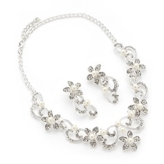 Flower Shaped Alloy/Pearl/Rhinestones Ladies' Jewelry Sets