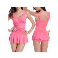 Sexy Solid Color One-piece (202120447)