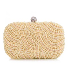 Gorgeous Satin/Pearl With Rhinestone Clutches (012028129)