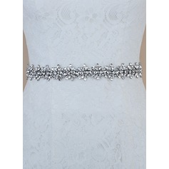 Elegant Satin Sash With Rhinestones