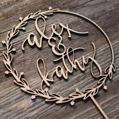 Personalized Bride And Groom Acrylic/Wooden Cake Topper