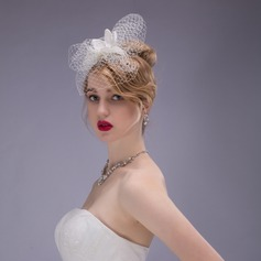 Net Yarn/Imitation Pearls Fascinators