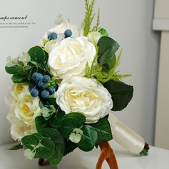 Pure Round Fabric Bridal Bouquets -