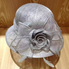 Ladies' Elegant Cambric With Feather/Silk Flower Fascinators