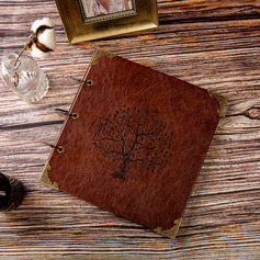 Personalized design Leather Guestbook