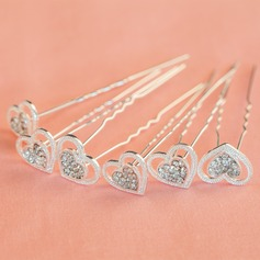 Lovely Rhinestone/Alloy Hairpins (Set of 6)