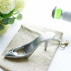 Cinderella High Heels Beer Bottle Opener in Burlap Bag Favors