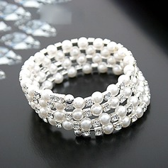 Beautiful Rhinestones Imitation Pearls With Imitation Pearl Ladies' Fashion Bracelets