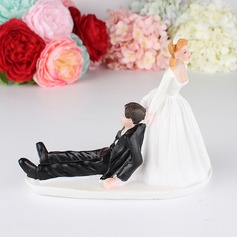 Classic Couple/Bride And Groom Resin Cake Topper (Sold in a single piece)