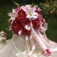 Blooming Round Satin Bridal Bouquets