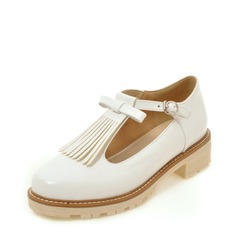 Women's PU Low Heel Closed Toe Wedges With Tassel shoes