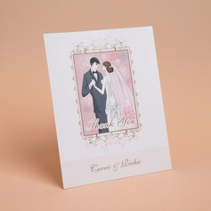 Personalized Bride & Groom Style Thank You Cards