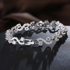 Shining Zircon With Zircon Women's Fashion Bracelets (Sold in a single piece)