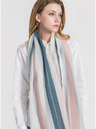 Striped Light Weight/Oversized Polyester Scarf
