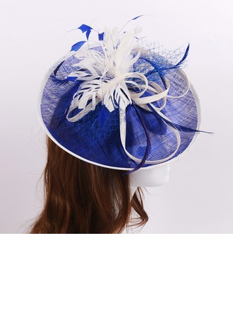 Dames Beau Batiste/Feather/Fil net avec Chapeaux de type fascinator