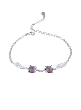 Ladies' Beautiful 925 Sterling Silver With Cubic Cubic Zirconia Bracelets For Bride/For Bridesmaid