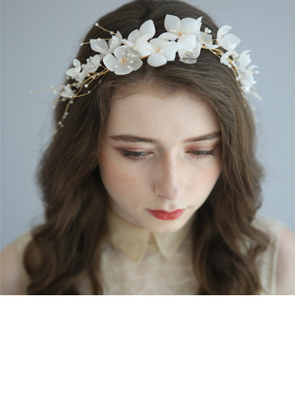 Ladies Beautiful Alloy/Pearls Headbands With Pearl