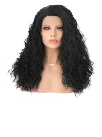 Curly Synthetic Hair Lace Front Wigs 280g