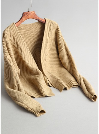Cable-knit Knit Cardigan Sweaters