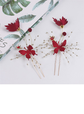 Simple Butterfly Alloy/Satin Hairpins (Set of 4)