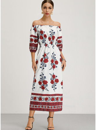 Cotton With Print/Boho Maxi Dress