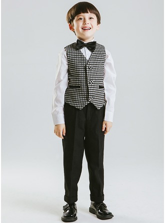 Boys 3 Pieces Elegant Ring Bearer Suits /Page Boy Suits With Vest Pants Bow Tie